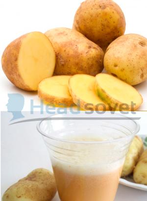 Готовый картофельный сок