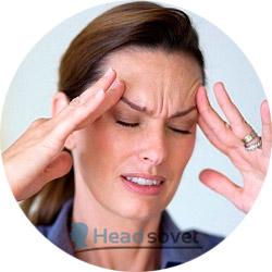 Наклон головы при мигрени